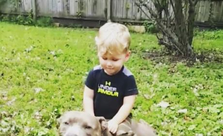 Jenelle Evans Son Kaiser with Dog