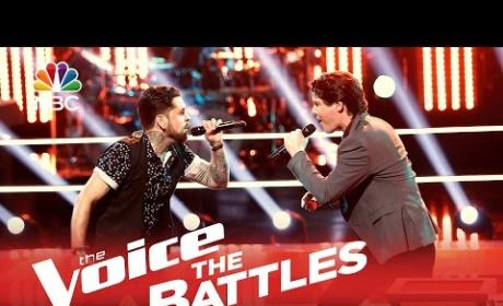 Dustin Monk vs. James Dupre (The Voice Battle Round)