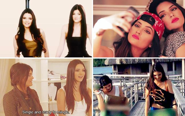 Kylie and kendall jenner share a moment