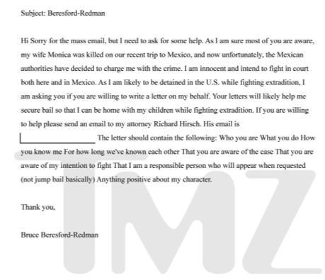 Bruce Beresford-Redman Letter