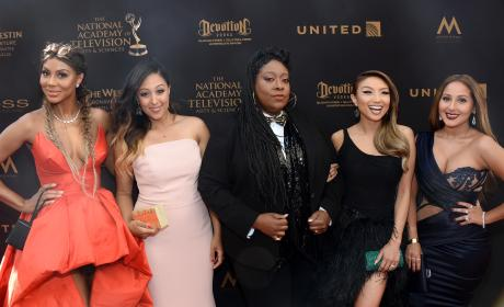 Tamar Braxton, Tamera Mowry-Housley, Loni Love, Jeannie Mai, and Adrienne Bailon:43rd Annual Daytime Emmy Awards