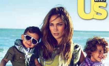 Jennifer Lopez, Two-Year Old Twins Model for Gucci