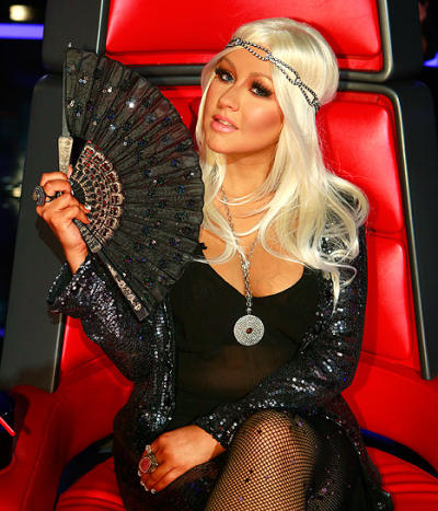Christina Aguilera on The Voice Photo