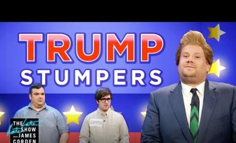 James Corden Also Makes Fun of Donald Trump