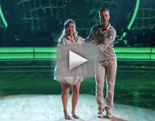 Bindi irwin jives way to top of dancing with the stars scoreboar