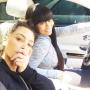 Kim Kardashian and Blac Chyna In The Car