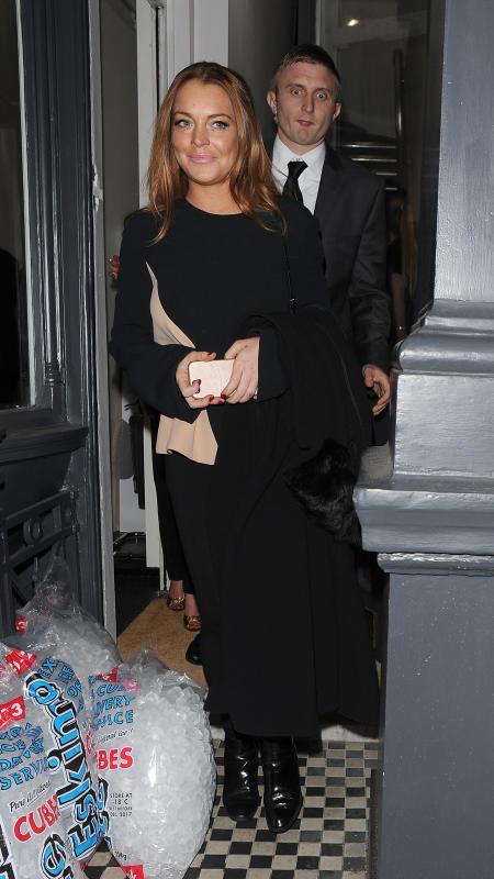 Lindsay Lohan Attends Tyler Shields' London Exhibit