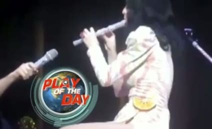 Katy Perry Flute Fail: Caught on Tape!