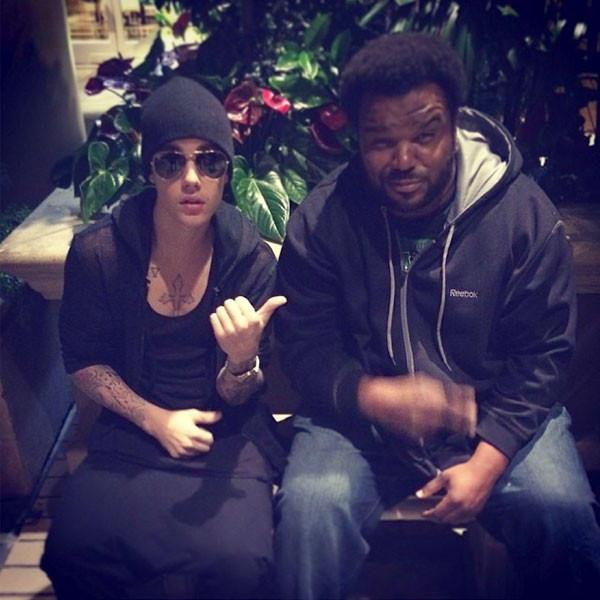 Justin Bieber and Craig Robinson