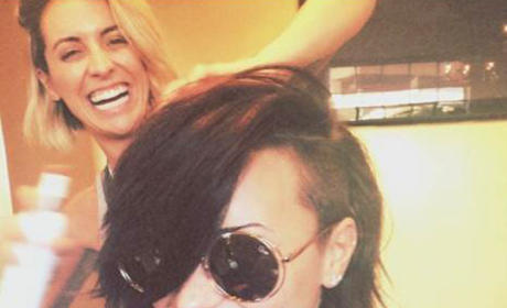 Demi Lovato Chops Off Lots of Hair!