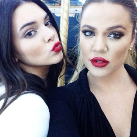 Kendall Jenner and Khloe Kardashian on Instagram