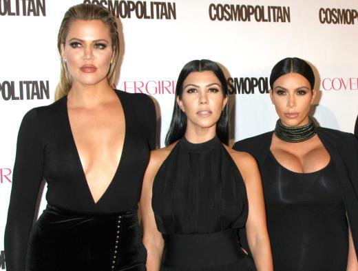 Kourtney, Khloe and Kim Kardashian