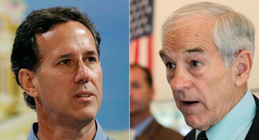 Santorum and Paul