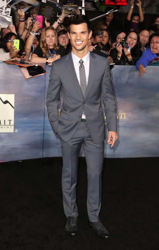 Taylor Lautner at Breaking Dawn 2 Premiere