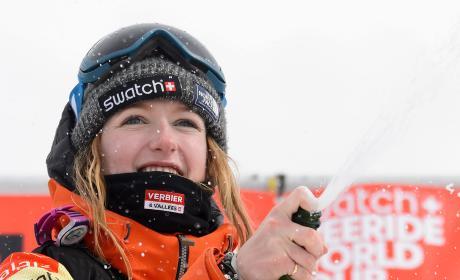 Snowboarder Estelle Balet