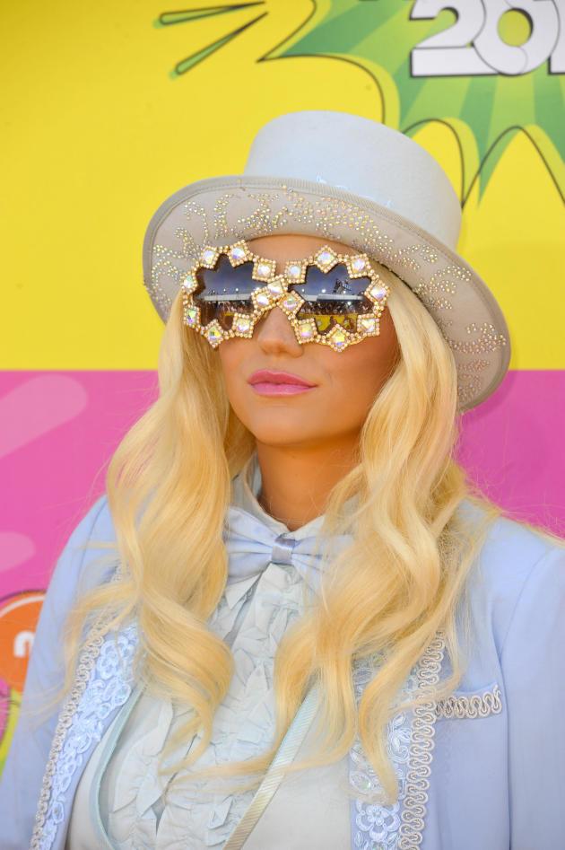 Ke$ha with Glasses