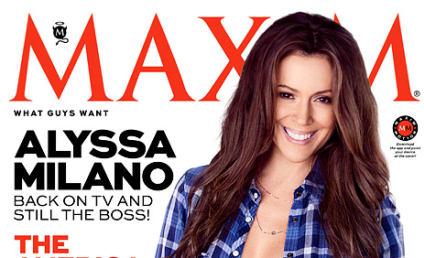 Alyssa Milano Maxim Cover: (Almost) Topless at 40!