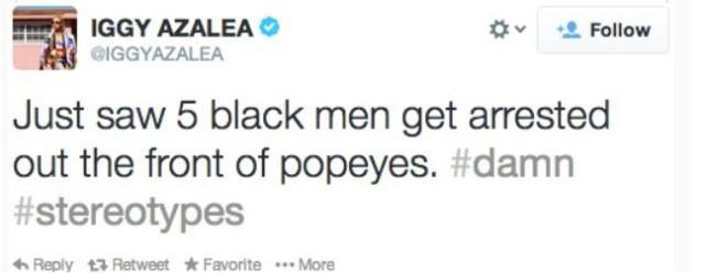 Iggy Azalea: Racist Tweet