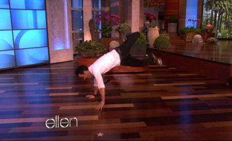 Justin Theroux: Break Dancing on Ellen!