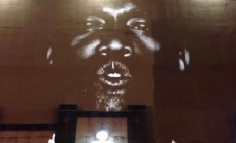 "Kanye West Projects ""New Slaves"" Music Video on Buildings Around the World"