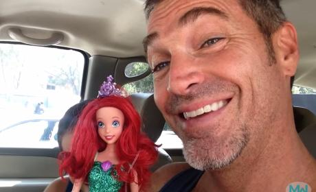 Most Supportive Father Ever Celebrates Son's Barbie Doll Purchase