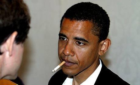 Barack Obama Smoking Photo
