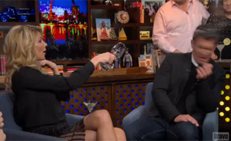 Brandi Glanville Throws Wine at Jeff Lewis, Breaks Down in Tears on Watch What Happens Live