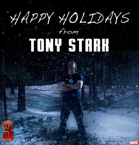 Iron Man 3 Holiday Card