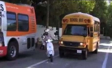 Gwyneth Paltrow Cuts Off School Bus