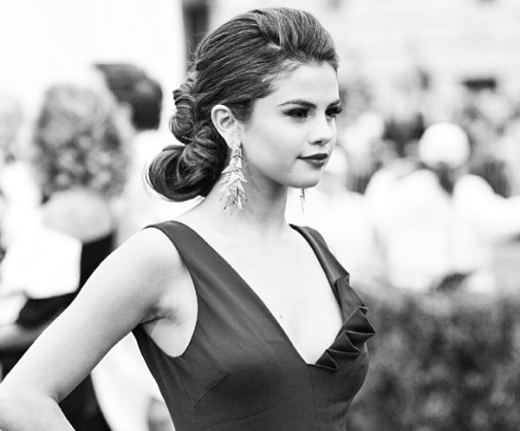 Selena Gomez in Black, White