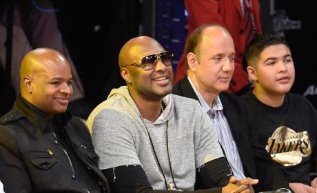 Lamar Odom Courtside