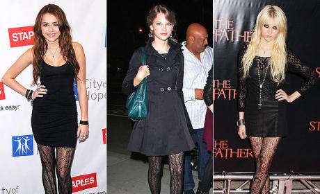 Celebrity Trend Watch: Lace Tights!