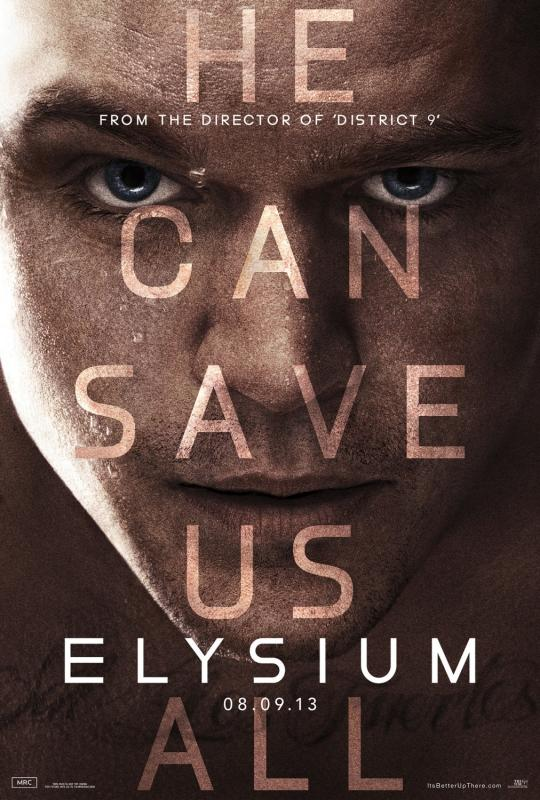 Matt Damon Elysium Poster