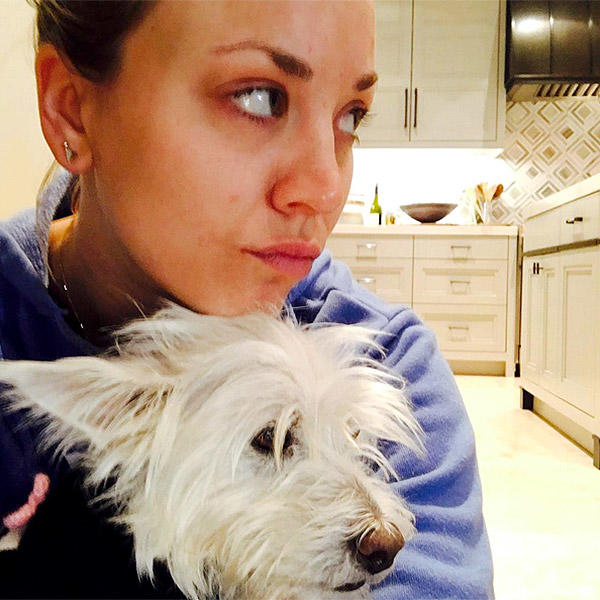 Kaley Cuoco and rescue dog Chester