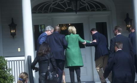 Hillary Clinton Stairs Photo