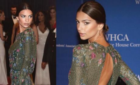 Emily Ratajkowski at the 2016 White House Correspondents Dinner