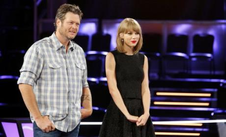 Taylor Swift and Blake Shelton