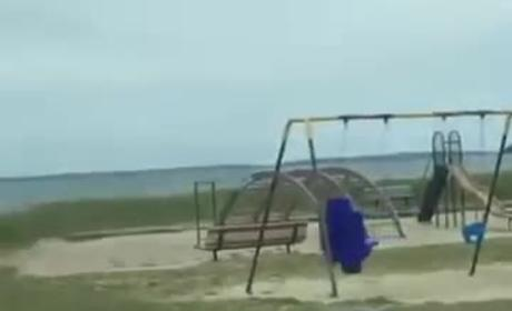A Ghost May Be Riding on This Swing