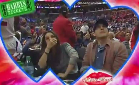 Mila Kunis and Ashton Kutcher Kiss on Cam: Watch Now!