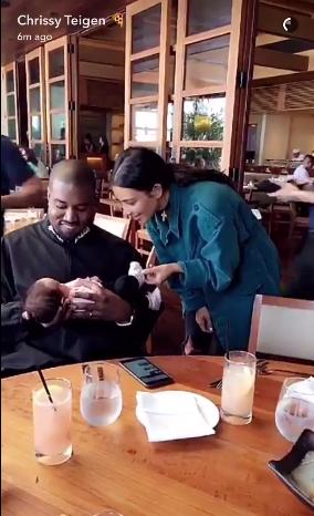 Kanye West &amp Kim Kardashian fawn over Luna Simone