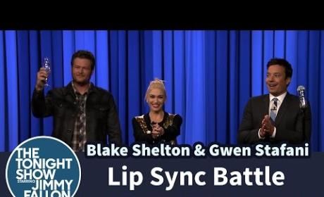 Gwen Stefani and Blake Shelton Own Jimmy Fallon in Epic Lip Sync Battle