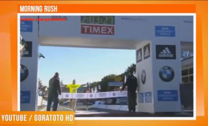 Moron Ruins Winning Marathon Moment for Runner, Advertises Escort Website