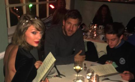 Taylor Swift, Calvin Harris and THIS Random Kid Enjoy Dinner Date in Santa Monica