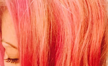 Kelly Ripa Pink Hair