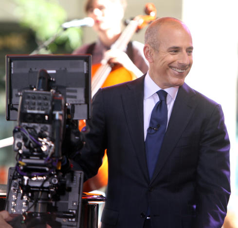 Matt Lauer on Today Show Set
