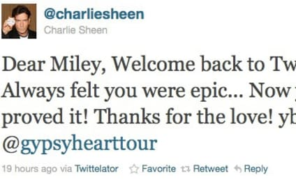 Miley Cyrus and Charlie Sheen: Totes Twitter BFFs!!!