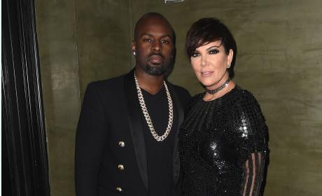 Kris Jenner and Corey Gamble: Balmain Met Gala After Party