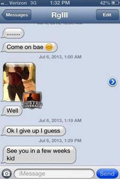 RGIII alleged text