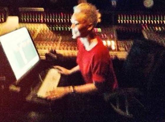 Miley Cyrus Studio Pic