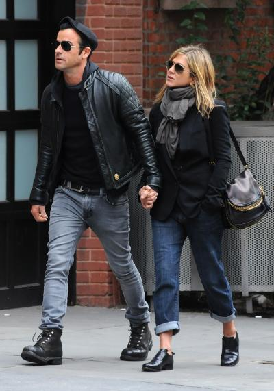Justin Theroux With Jennifer Aniston